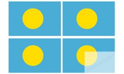 Stickers / autocollants drapeau Palaos 2