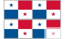 Stickers / autocollants drapeau Panama 2
