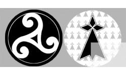 stickers / autocollant Bretagne triskèle et drapeau