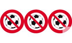 "Stickers / autocollant PISCINE ""Ballon interdit"""