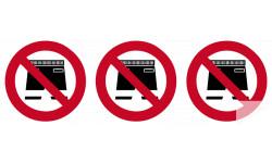 """Stickers / autocollant PISCINE """" short interdit """""""