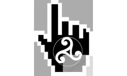 stickers /  autocollants curseur main celte