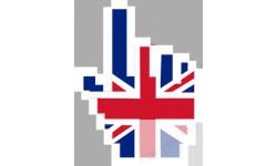 stickers /  autocollants curseur main anglaise
