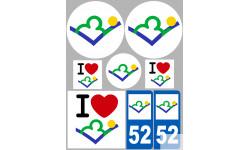 stickers / autocollant département de la Haute Haute Marne