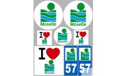 stickers / autocollant département de la Moselle