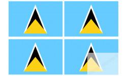 Stickers / autocollants drapeau Sainte Lucie 2