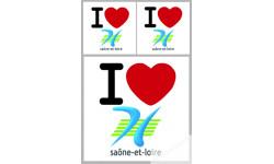 stickers / autocollant département de la Saône et Loire