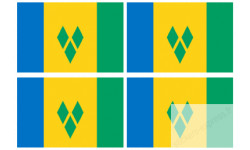 Stickers / autocollants drapeau Saint-Vincent-et-les-Grenadines 2