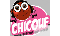 "stickers / autocollants ""Chicouf fille 2"""