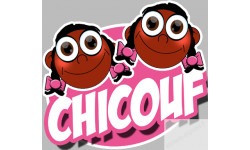 "stickers / autocollants ""Chicouf jumelles 2"""