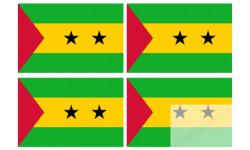 Stickers / autocollants drapeau Sao-Tomé-et-Principe 2