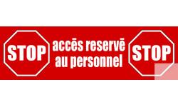 """Sticker / Autocollant pour sol """"accès réservé"""""""