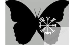 "stickers autocollants ""effet papillon Viking"""