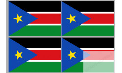 Stickers / autocollants drapeau Soudan du Sud