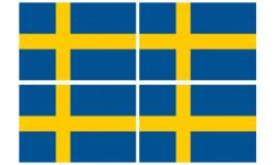 Stickers / autocollants drapeau Suède