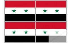 Stickers / autocollants drapeau Syrie