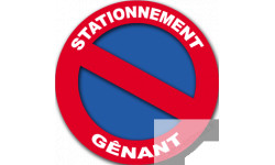 Stickers / autocollants stationnement gênant