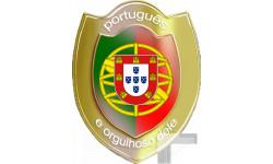 Stickers  / Autocollant  portugais et fier de l'être