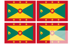 Stickers / autocollants drapeau Grenade