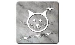 Sticker à mon compagnons chat (marbre gris)