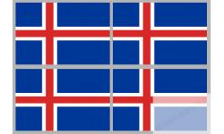 Stickers / autocollants drapeau Islande