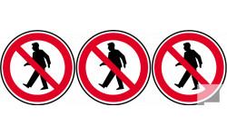 interdit aux piétons