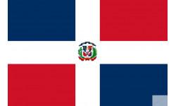 drapeau officiel Republique dominicaine