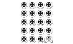 Stickers / autocollants Croix de Malte 5